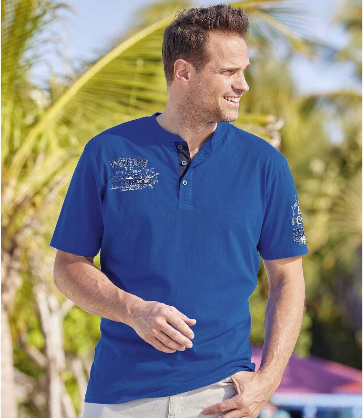 Set van 2 T-shirts met Tunesische hals Blue Coast Atlas For Men