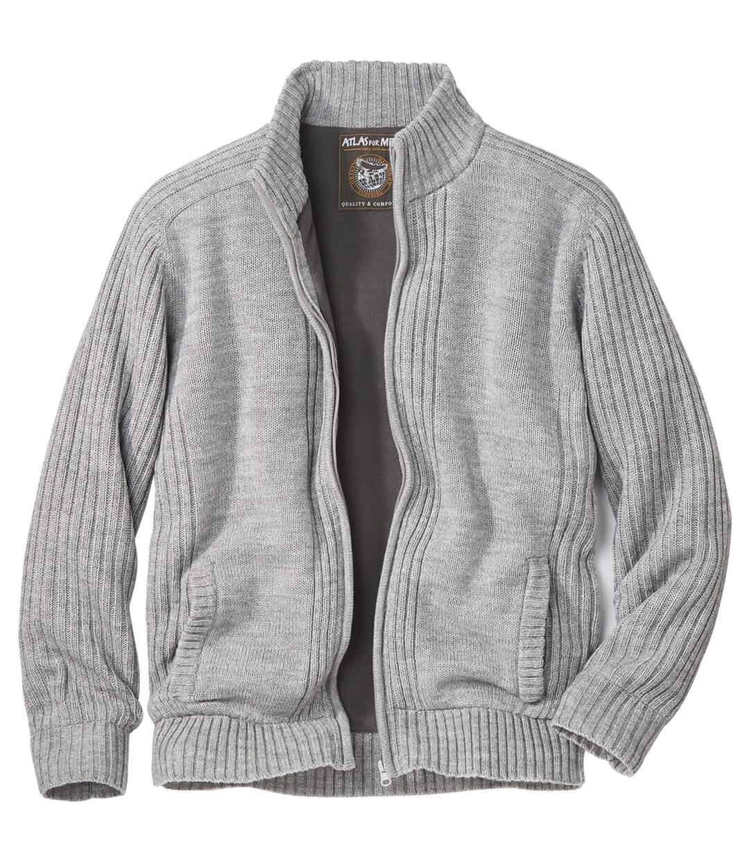 Pletený svetr s fleecovou podšívkou