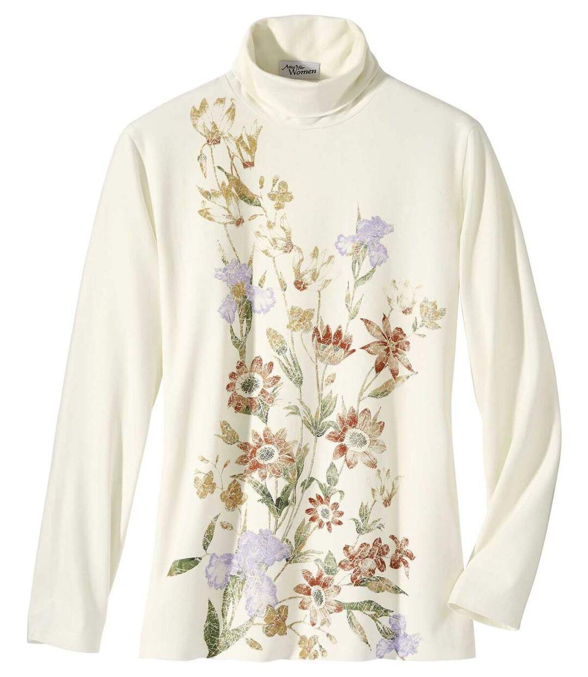 T-Shirt mit Blumendekor und Rollkragen Atlas For Men