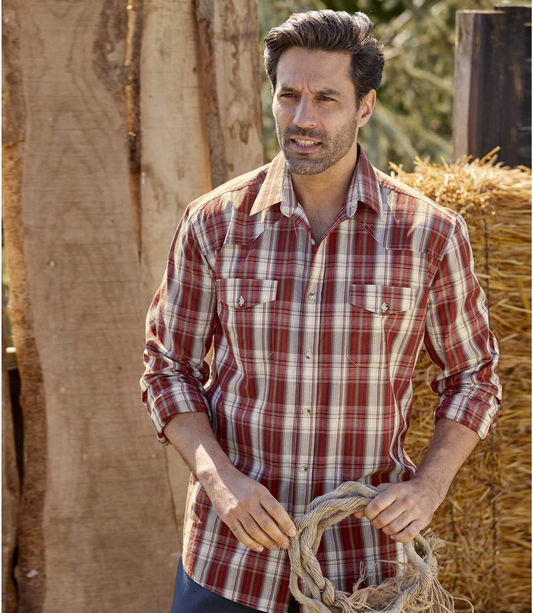Men's Red Checked Shirt