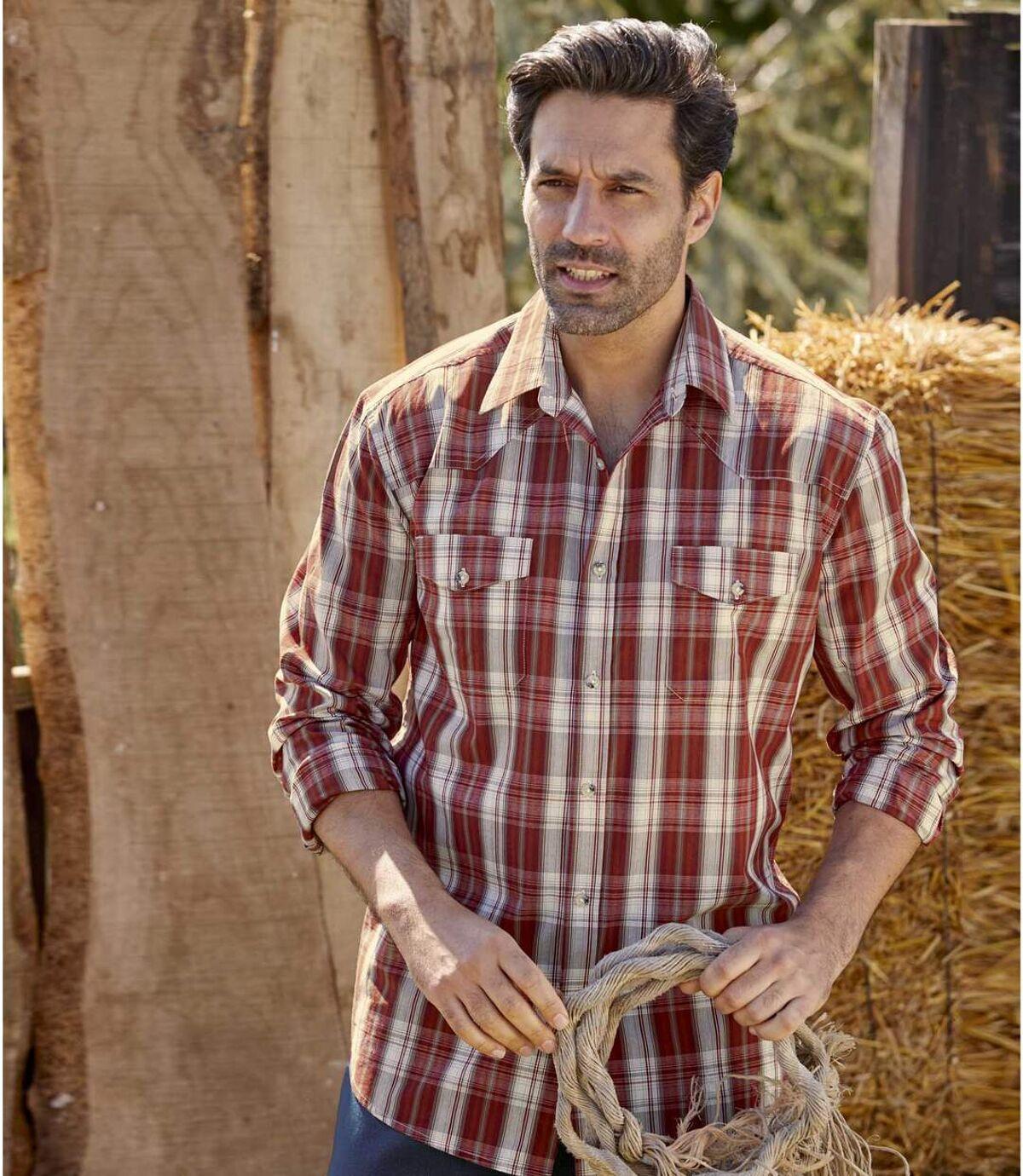 Geruit country overhemd Atlas For Men