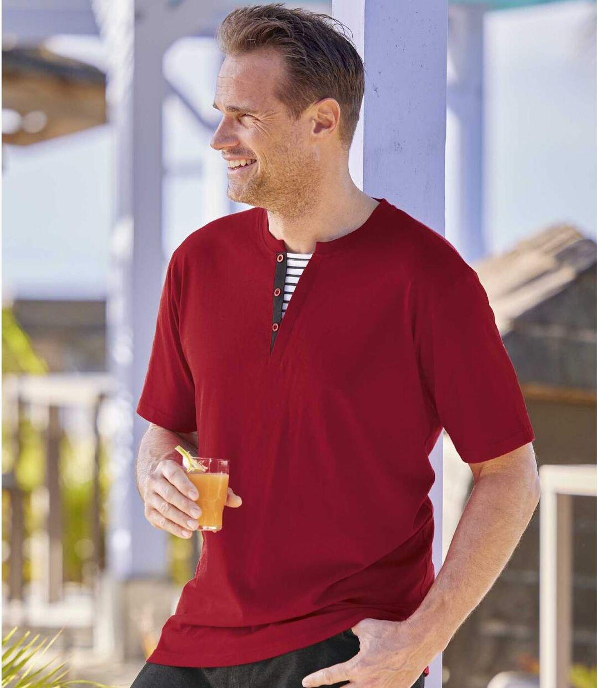 Sada 2 triček Sailing se zapínáním u krku Atlas For Men
