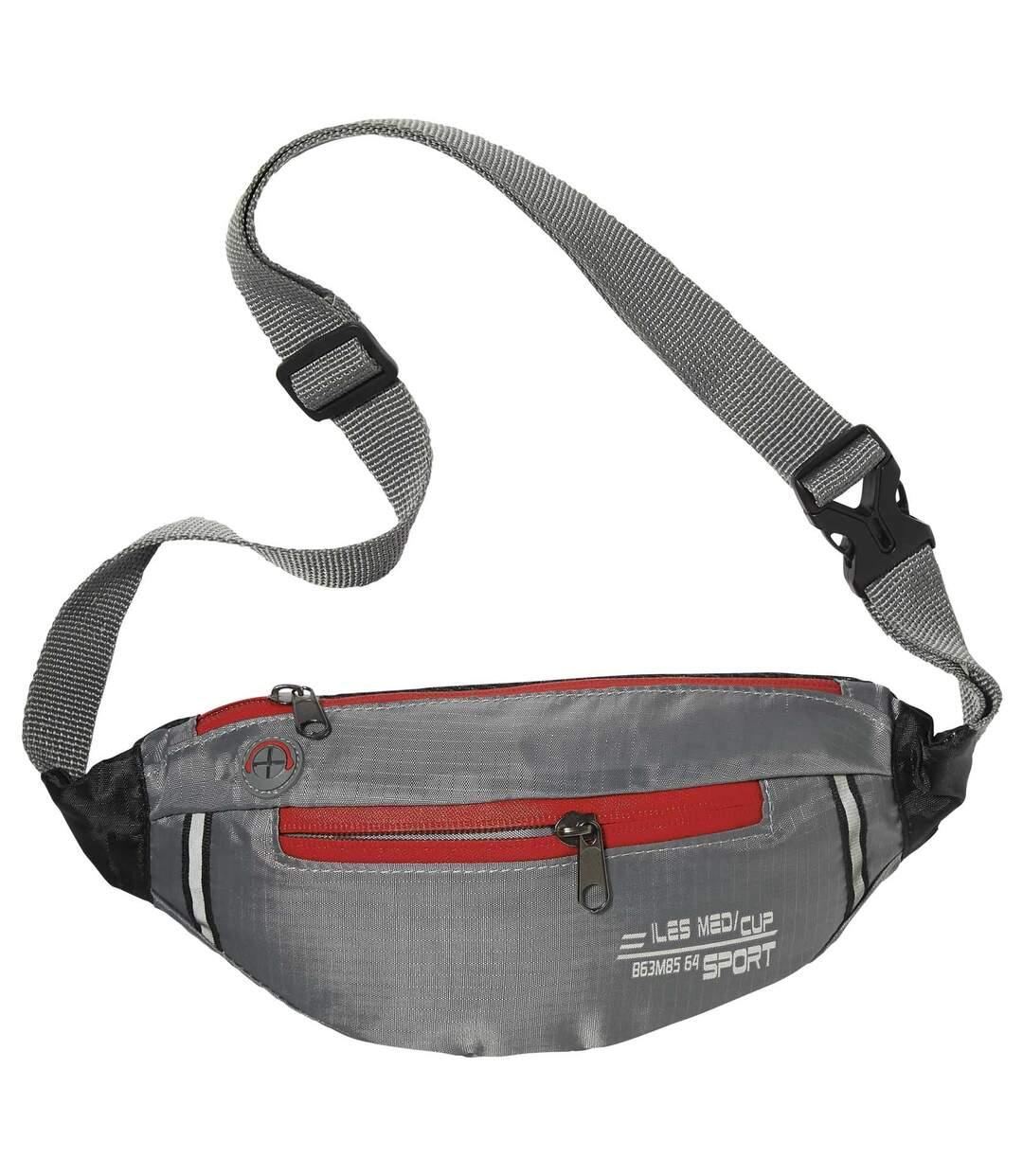 Grey Dual-Colour Bumbag