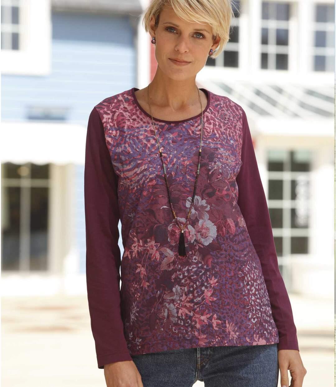 Tričko sbarevným potiskem