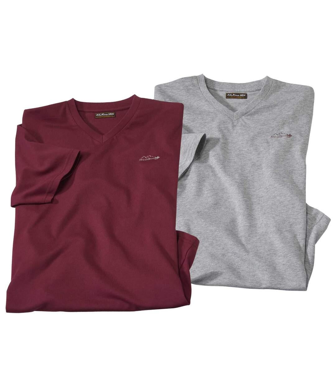 Súprava 2 tričiek s výstrihom do V