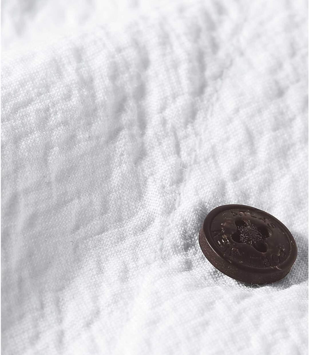 Wit overhemd van crêpestof