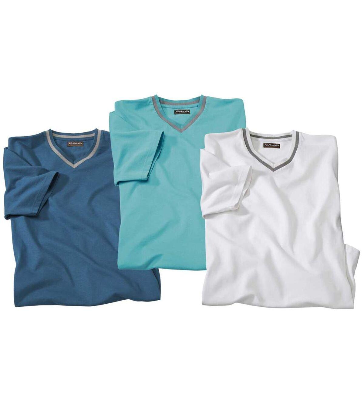 3er-Pack T-Shirts mit V-Ausschnitt Atlas For Men