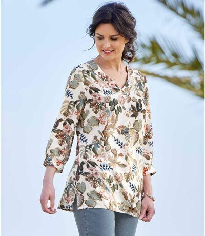 Women's Print Crepe Blouse - Multi-Coloured