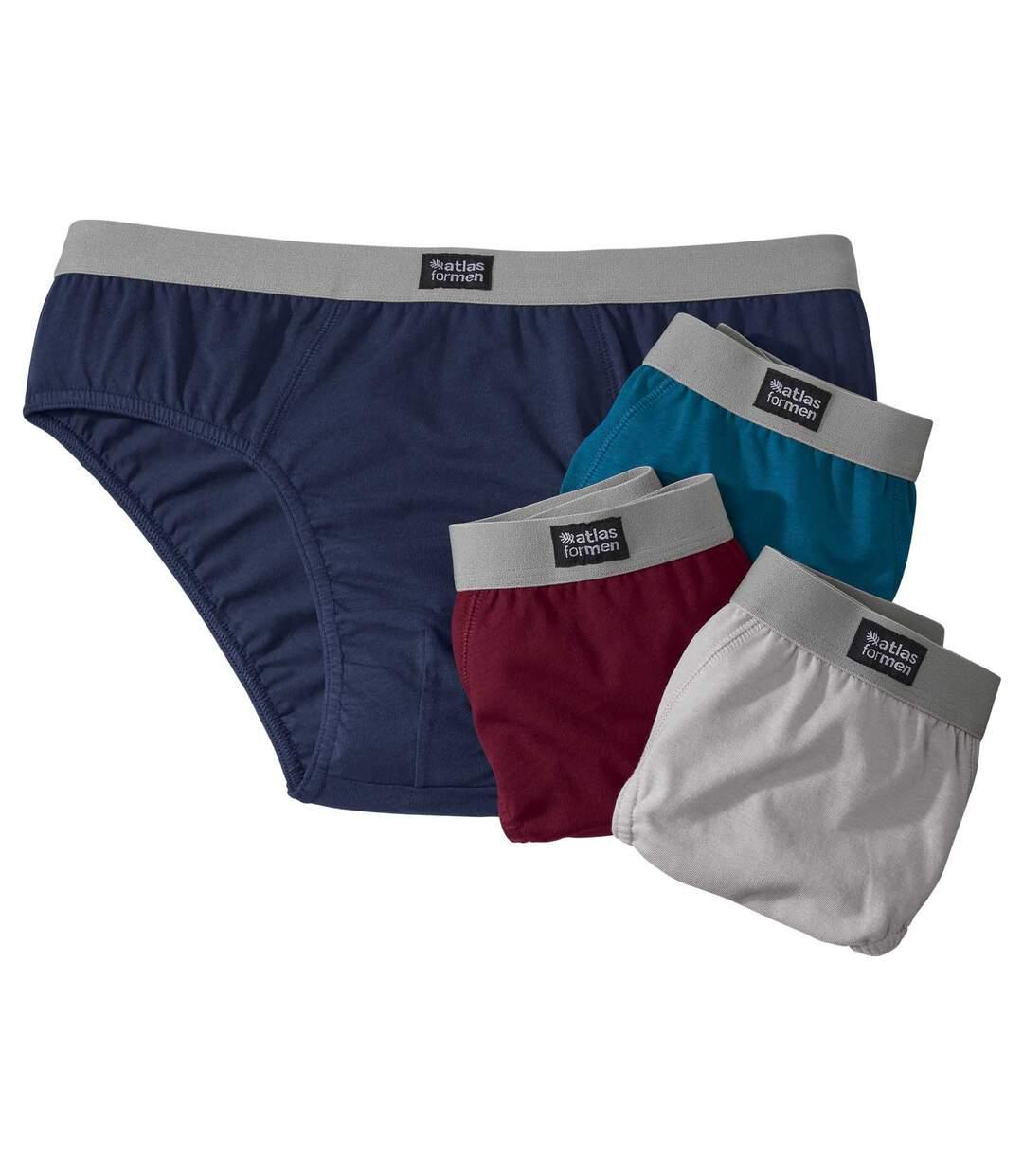 4er-Pack einfarbige Slips Atlas For Men
