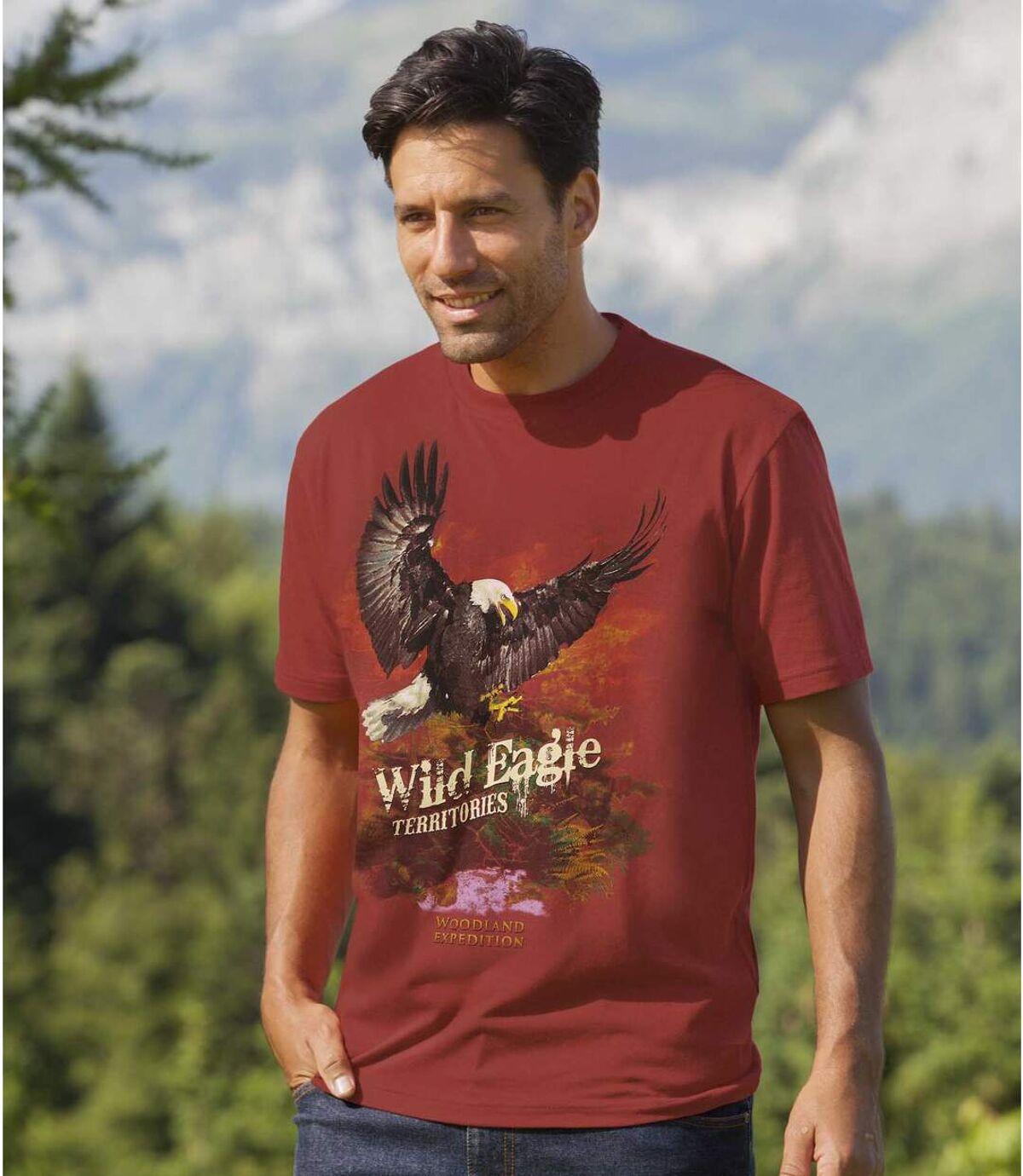 Men's Eagle Print Short Sleeve T-Shirt Atlas For Men