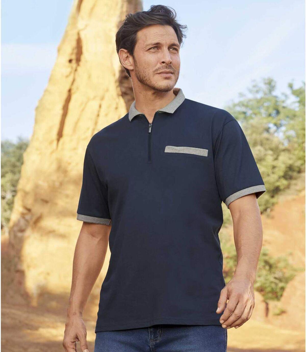 Pack of 2 Atlas For Men® Polo Shirts - Navy Blue Atlas For Men