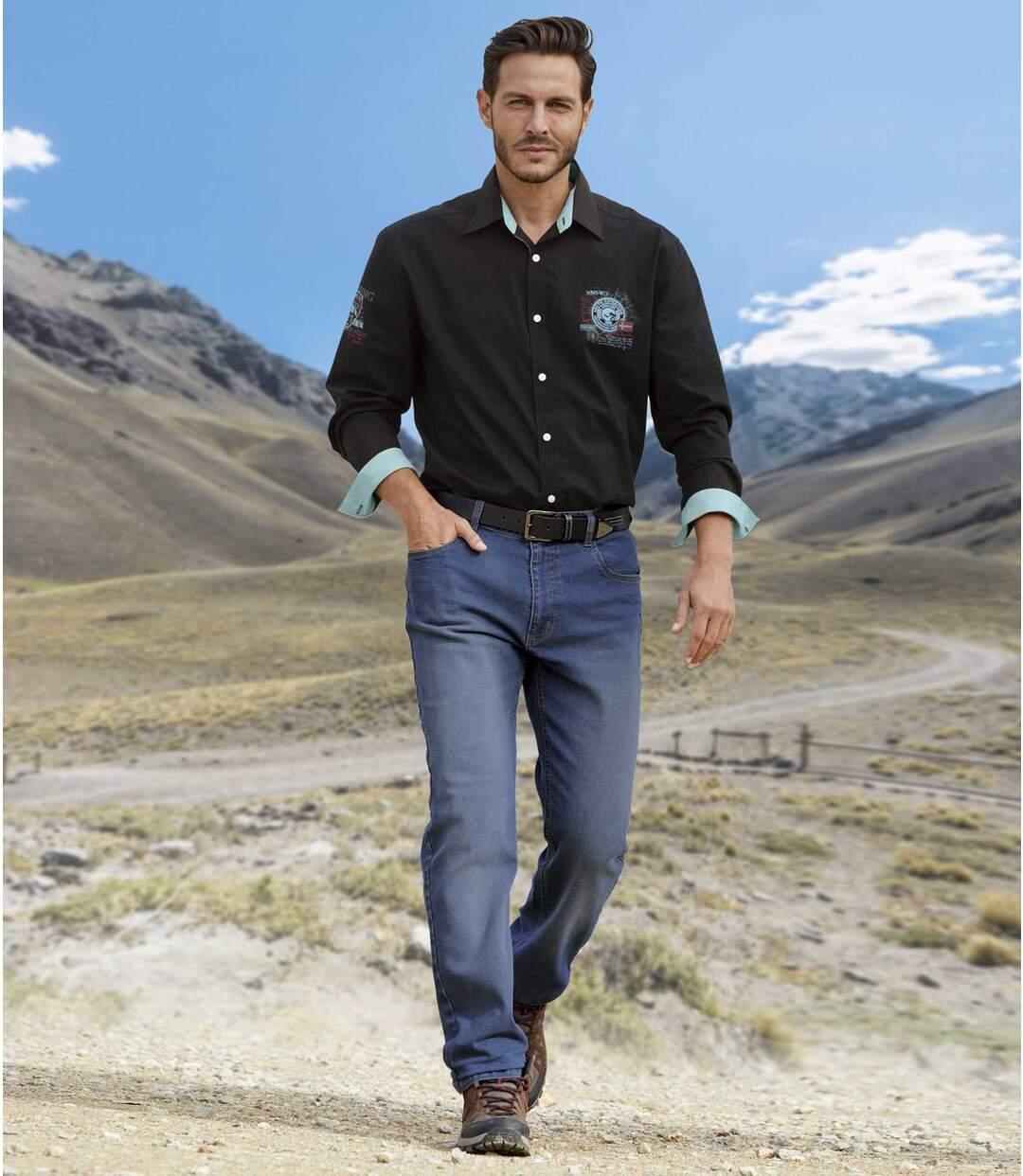 Sprane jeansy Bleached Blue
