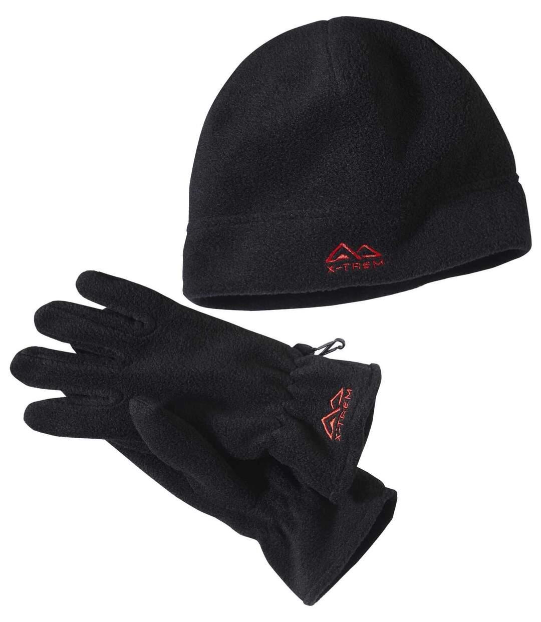 Polarowy zestaw: rękawiczki + czapka  Atlas For Men