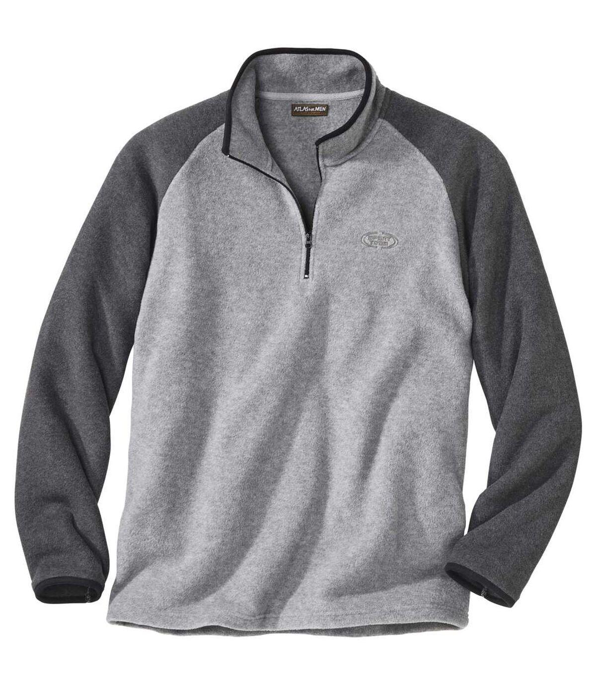 Dwukolorowy sweter z polaru Atlas For Men