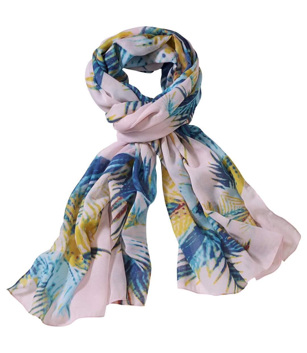 Šátek s potiskem palmových listů