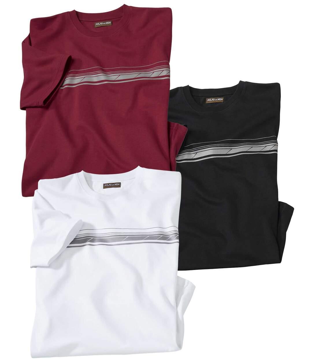Set van 3 T-shirts met grafische opdruk