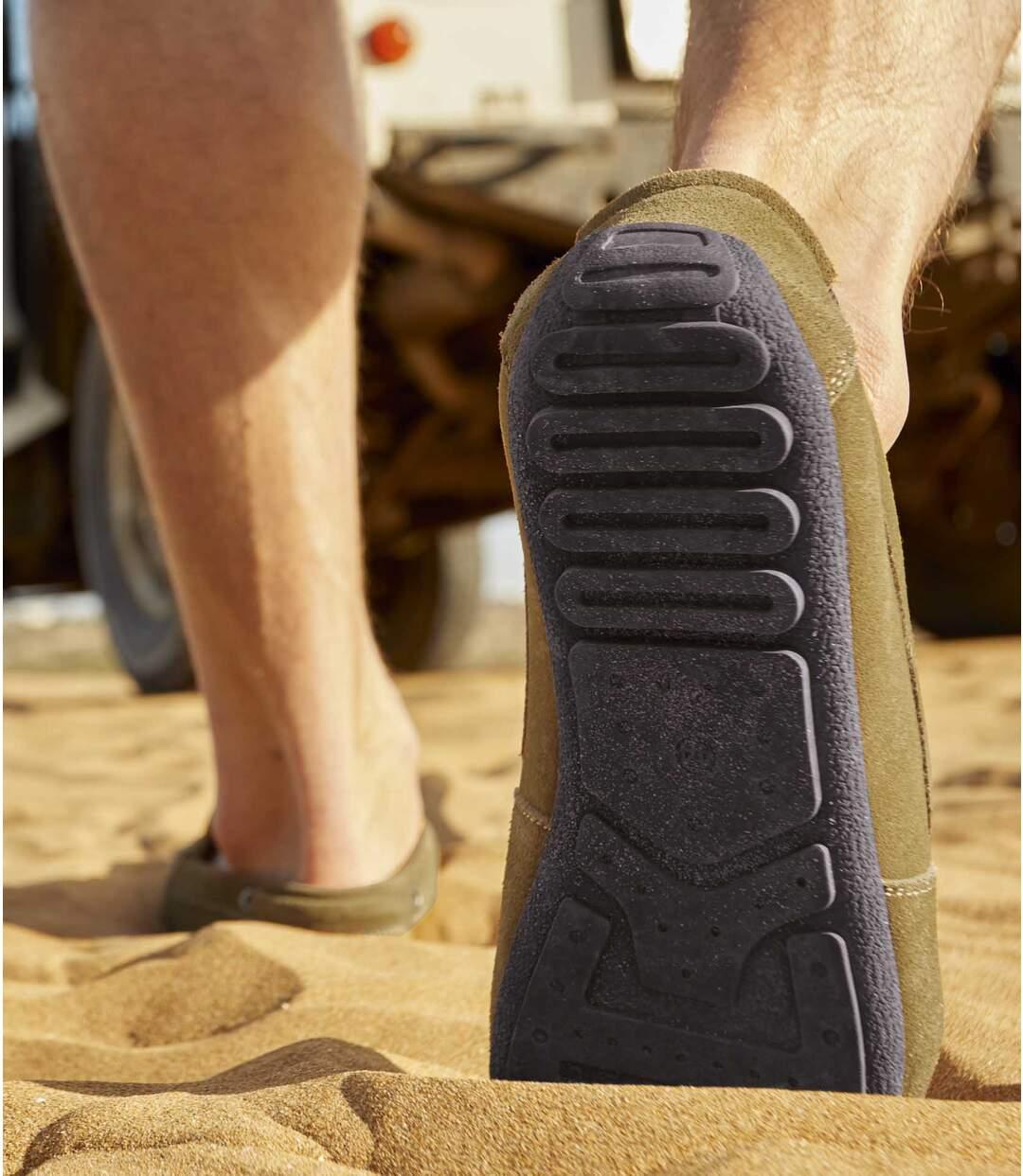 Men's Camel Split Leather Moccasins Atlas For Men