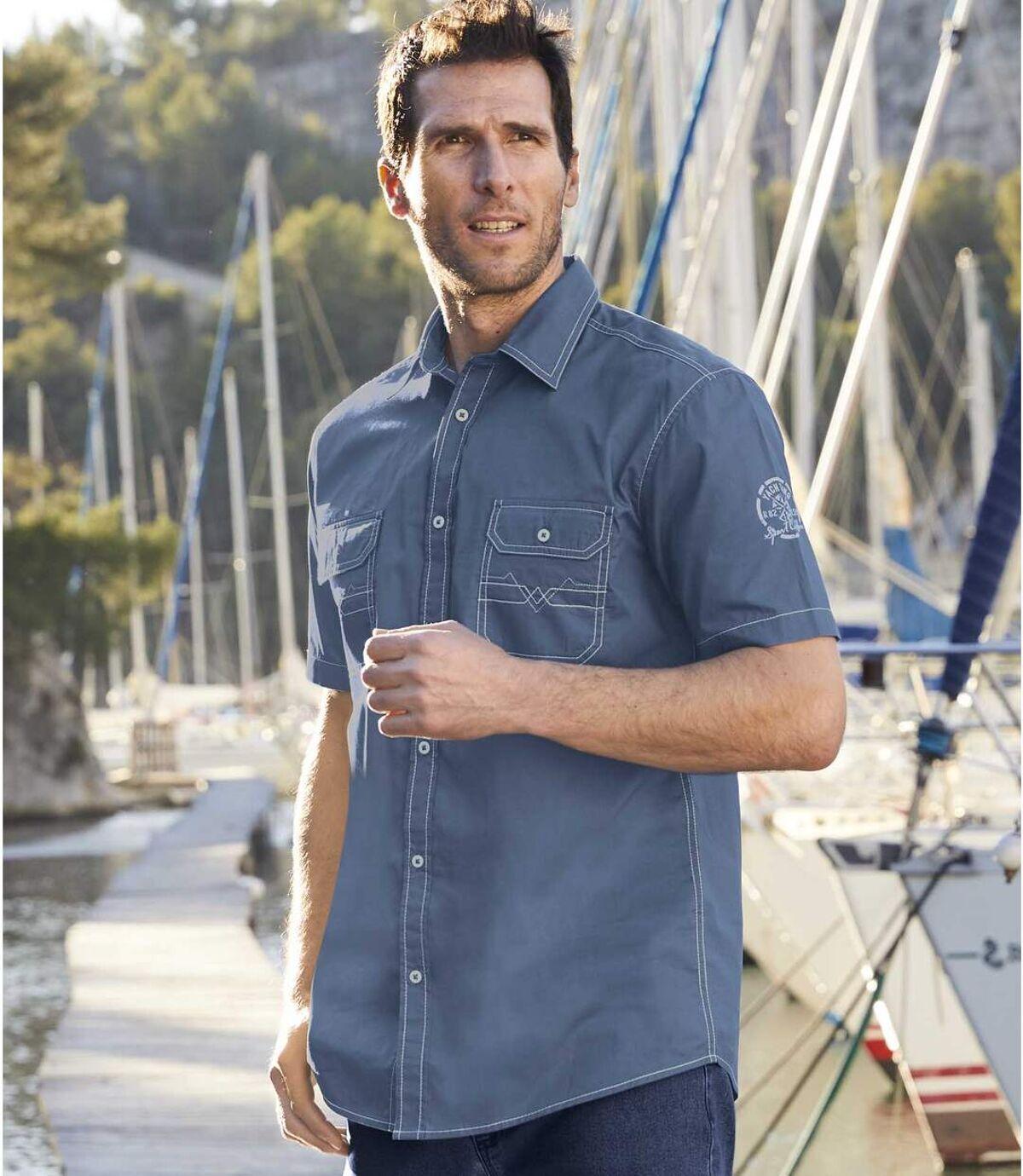Popelin-Hemd Yachting Atlas For Men