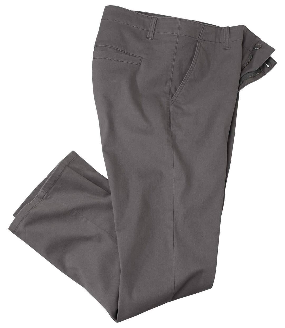 Strečové keprové nohavice chino