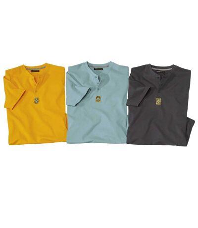 Lot de 3 Tee-shirts Col Tunisien Unis