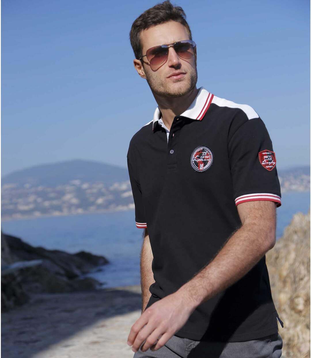 Poloshirt Pacific Team im Rugby-Design