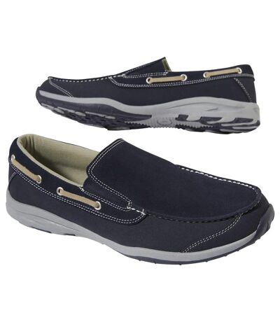 Men's Navy Boat Shoes