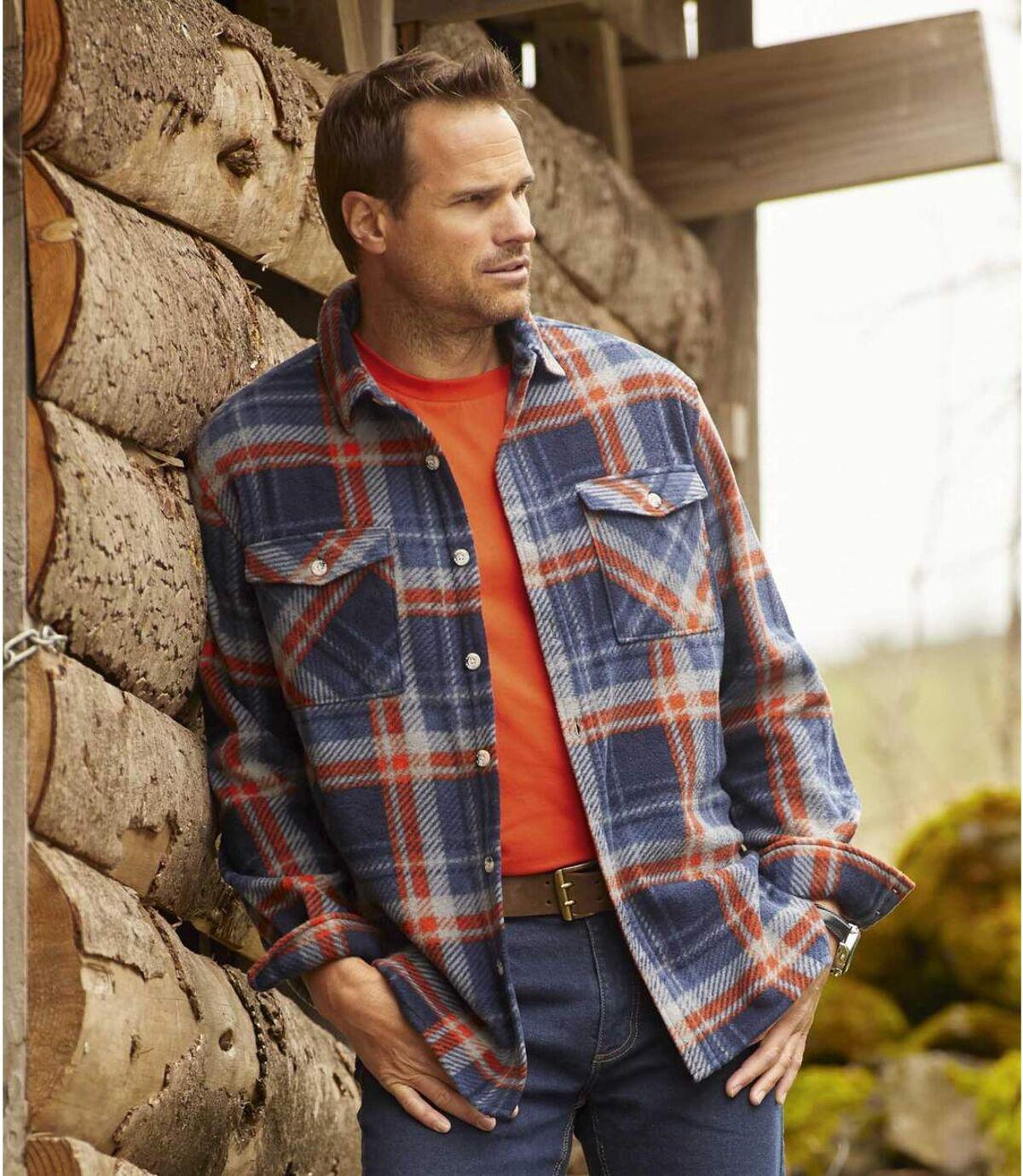 Geruit outdoor overhemd van fleece Atlas For Men