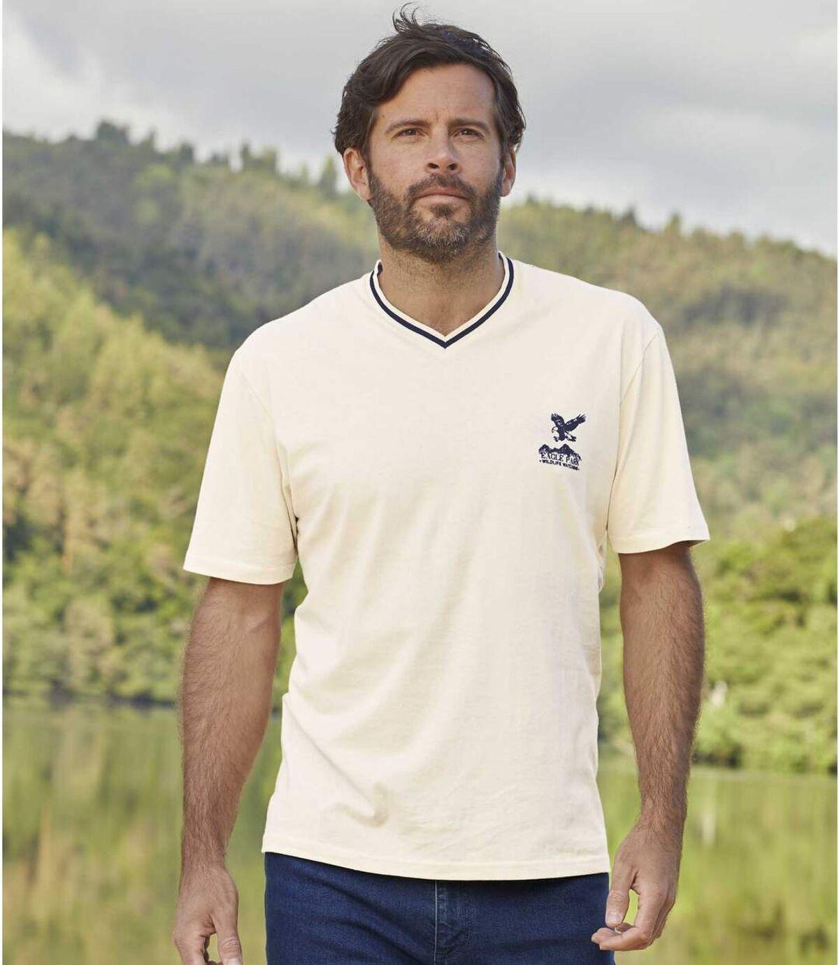 Sada 3 outdoorových triček svýstřihem do V Atlas For Men