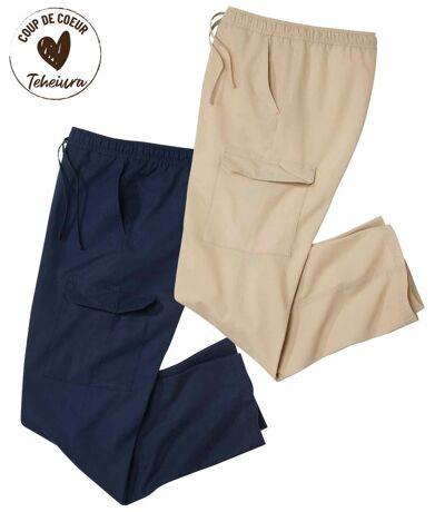 Lot de 2 Pantalons Cargo
