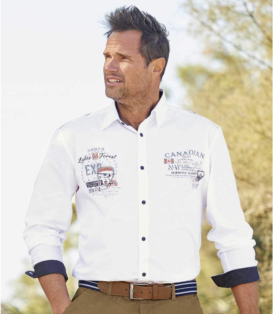 Biała koszula Canadian Pilot Atlas For Men