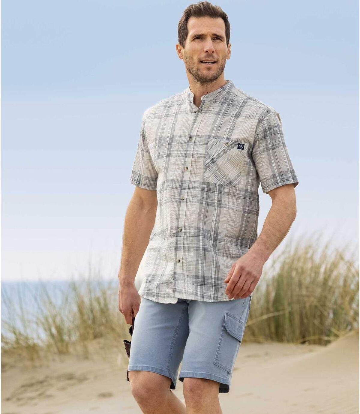 Jeans-Bermuda Cargo mit Stretch-Effekt Atlas For Men