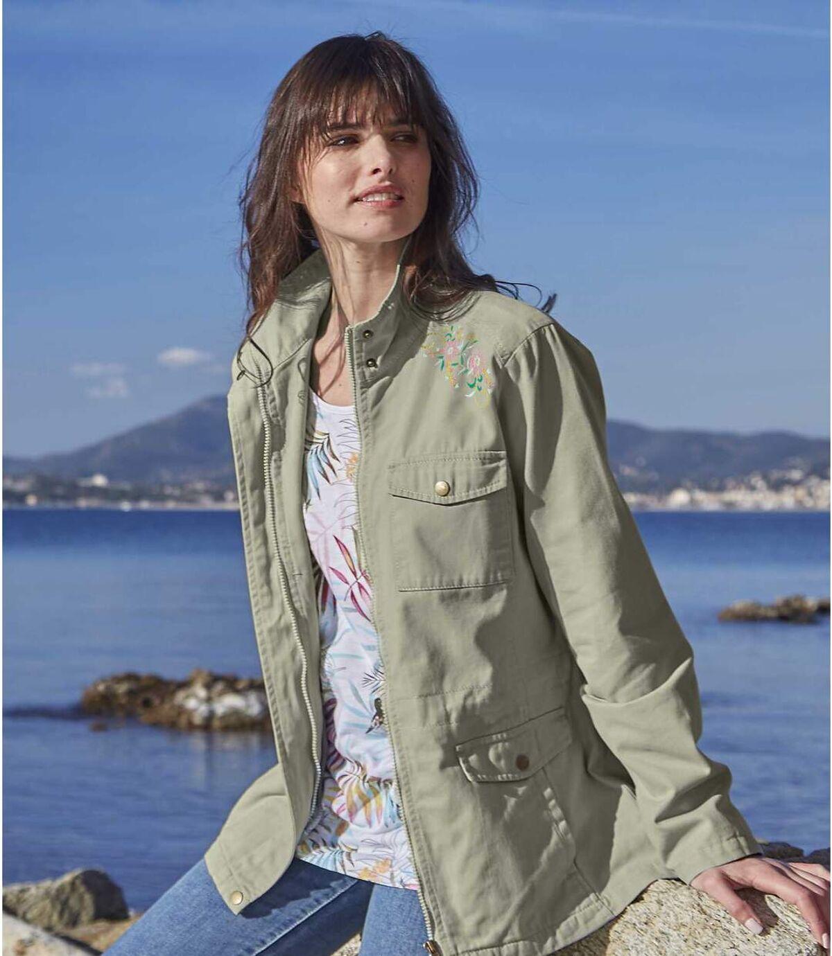 Women's Sage Embroidered Safari Jacket Atlas For Men