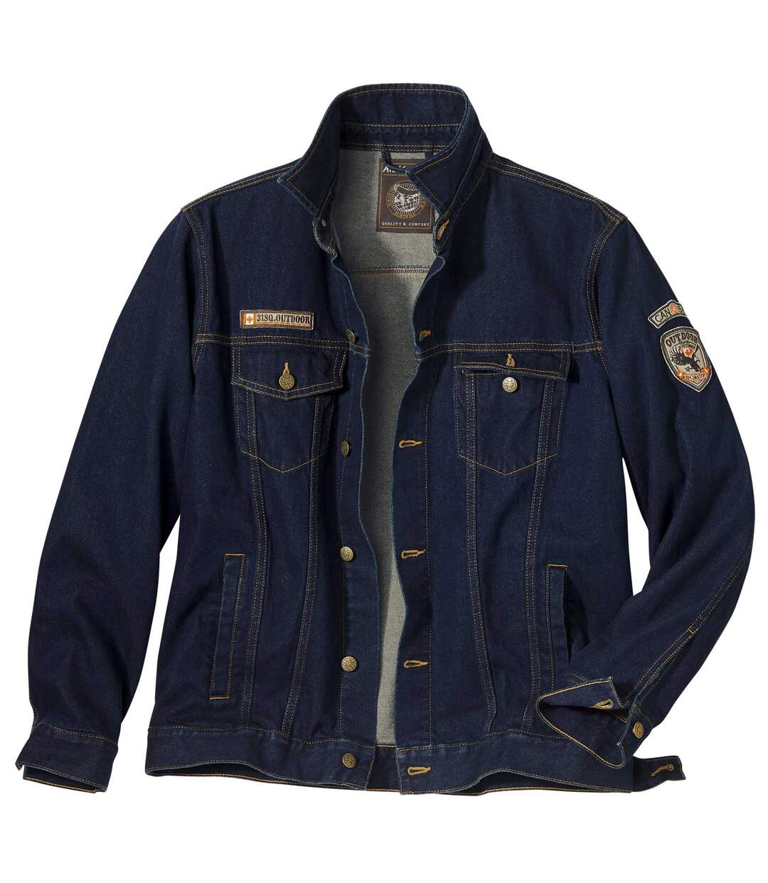 Men's Dark Blue Denim Jacket