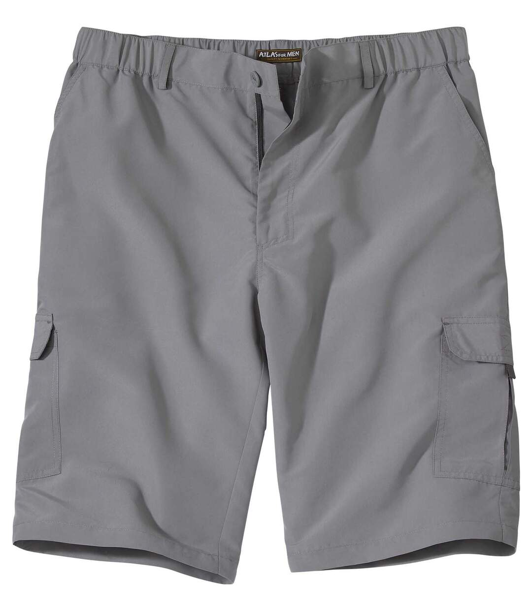 Men's Grey Microfibre Bermuda Cargo Shorts