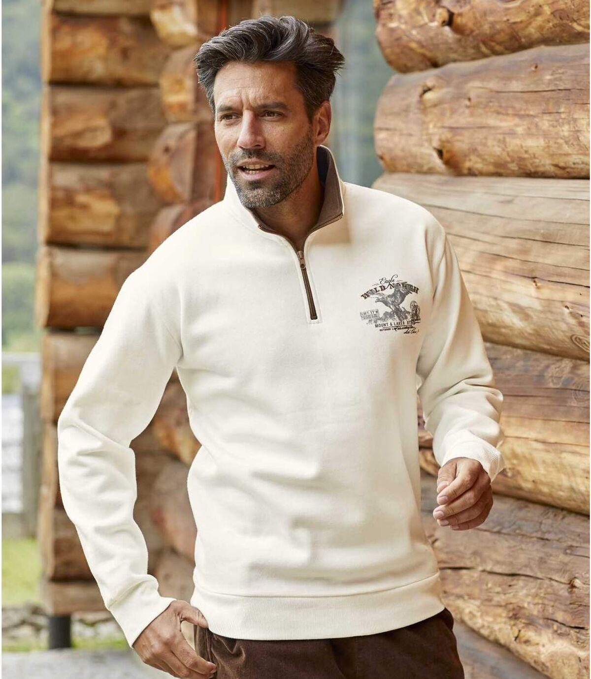 Molton-Sweatshirt Wild North mit RV-Kragen Atlas For Men