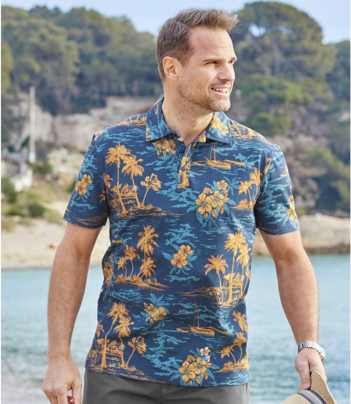 Polo tričko Exotic Travel Atlas For Men