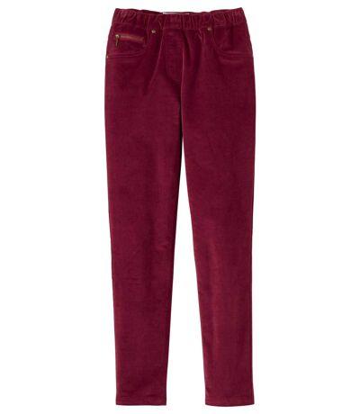 Menčestrové pružné nohavice