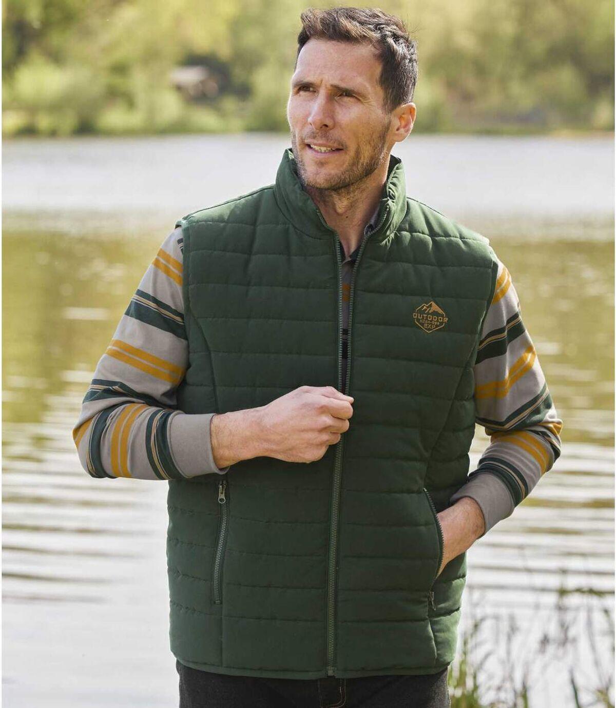 Men's Water-Repellent Padded Vest - Green   Atlas For Men