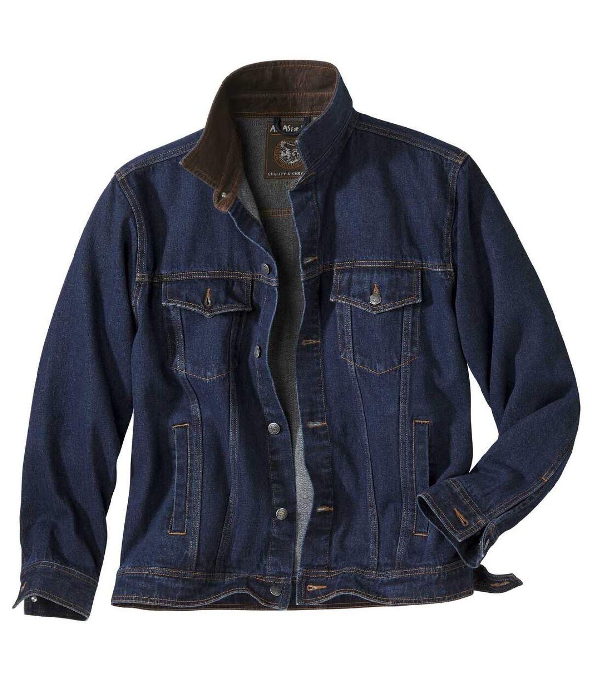 Men's Dark Blue Denim Jacket Atlas For Men