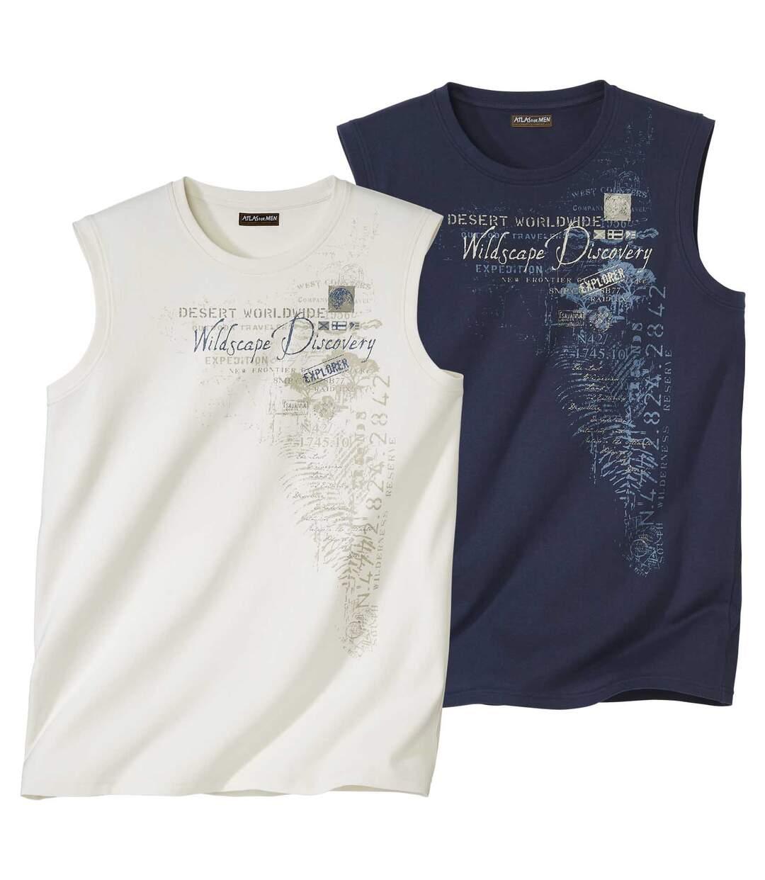 Súprava 2 tričiek bezrukávov Wildscape