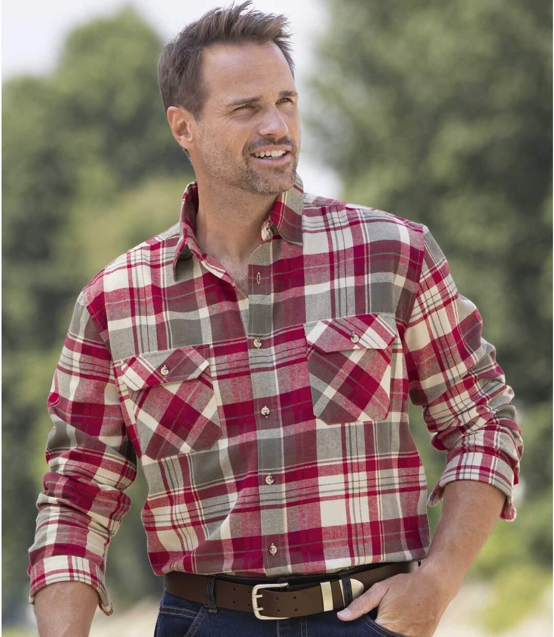 Geruit herfst overhemd van flanel  Atlas For Men