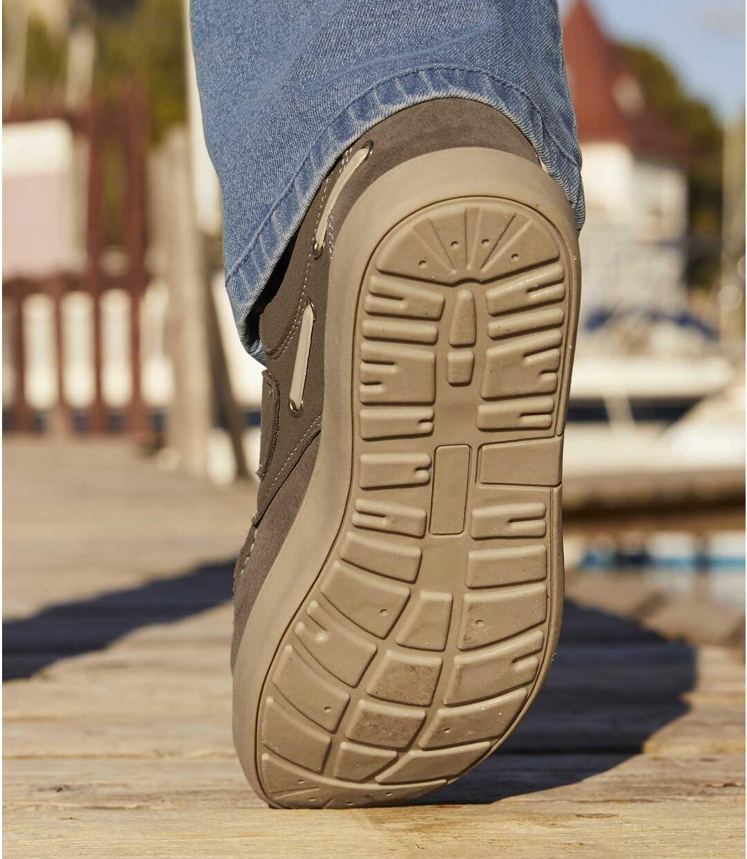 Men's Taupe Boat Shoes