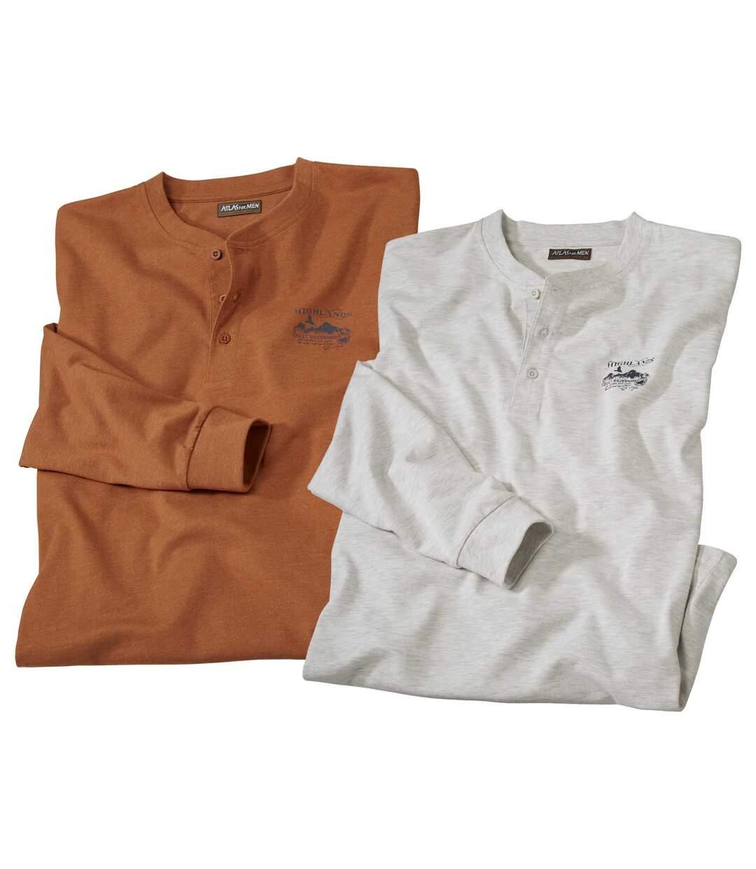 Súprava 2 tričiek s dlhým rukávom
