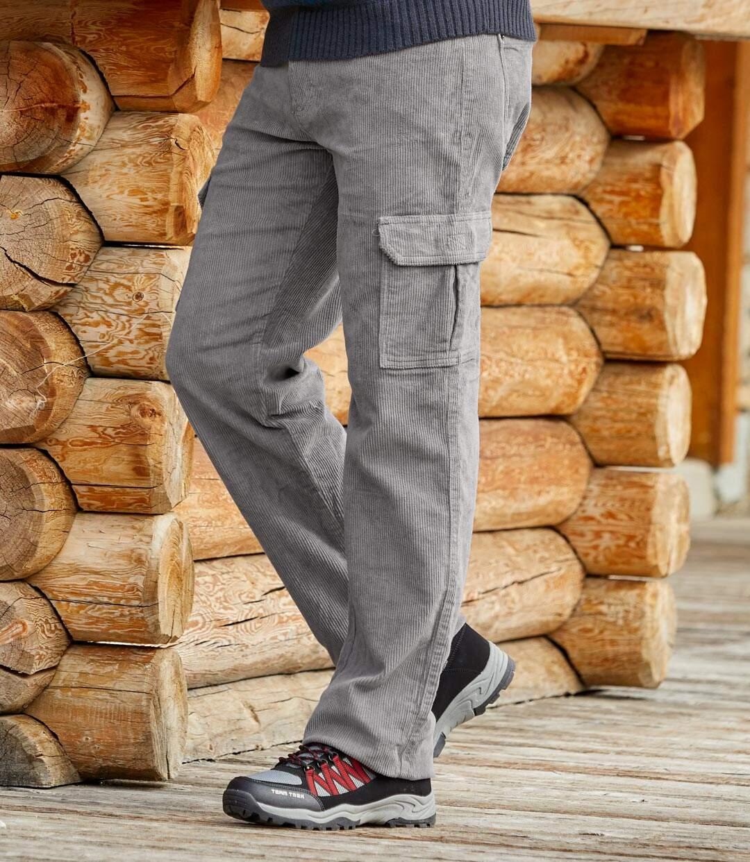 Strečové menčestrové nohavice Cargo