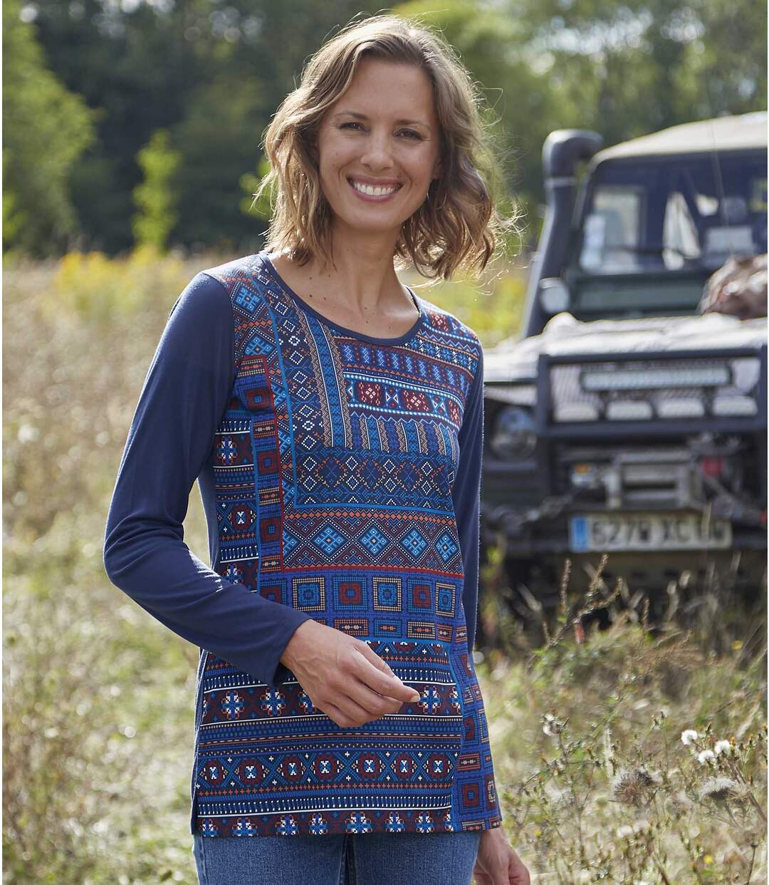 Tunika im Patchwork-Look
