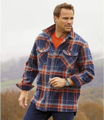 Karierte Hemdjacke Outdoor aus Fleece