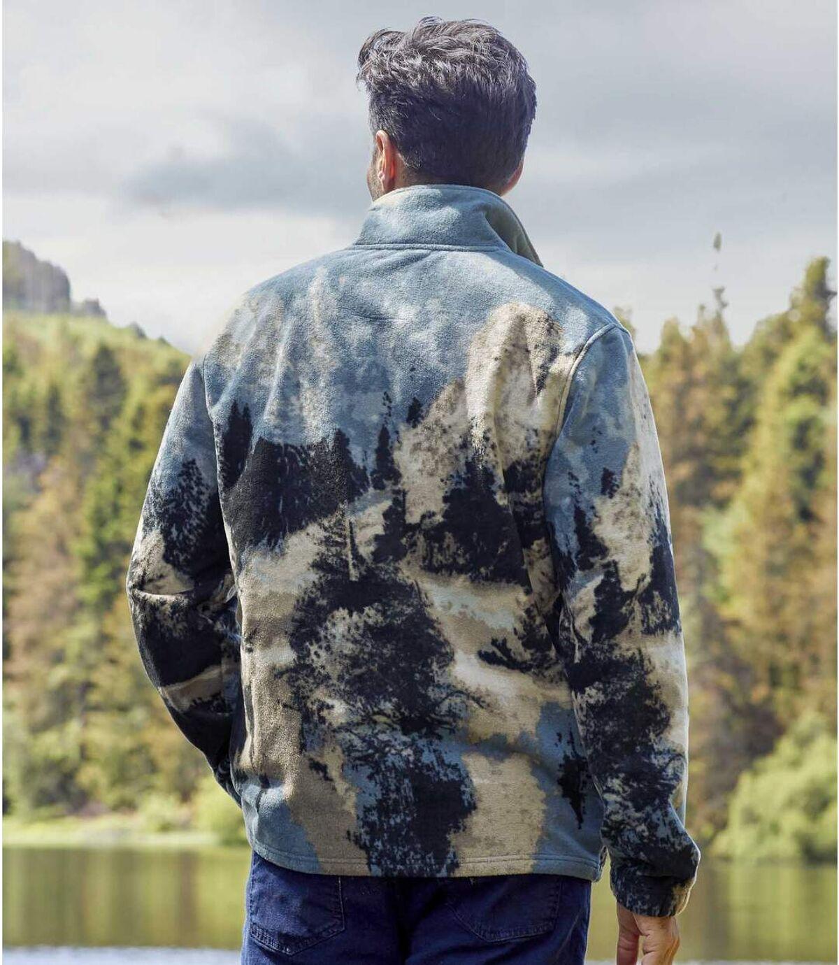 Fleecevest met wolvenprint  Atlas For Men
