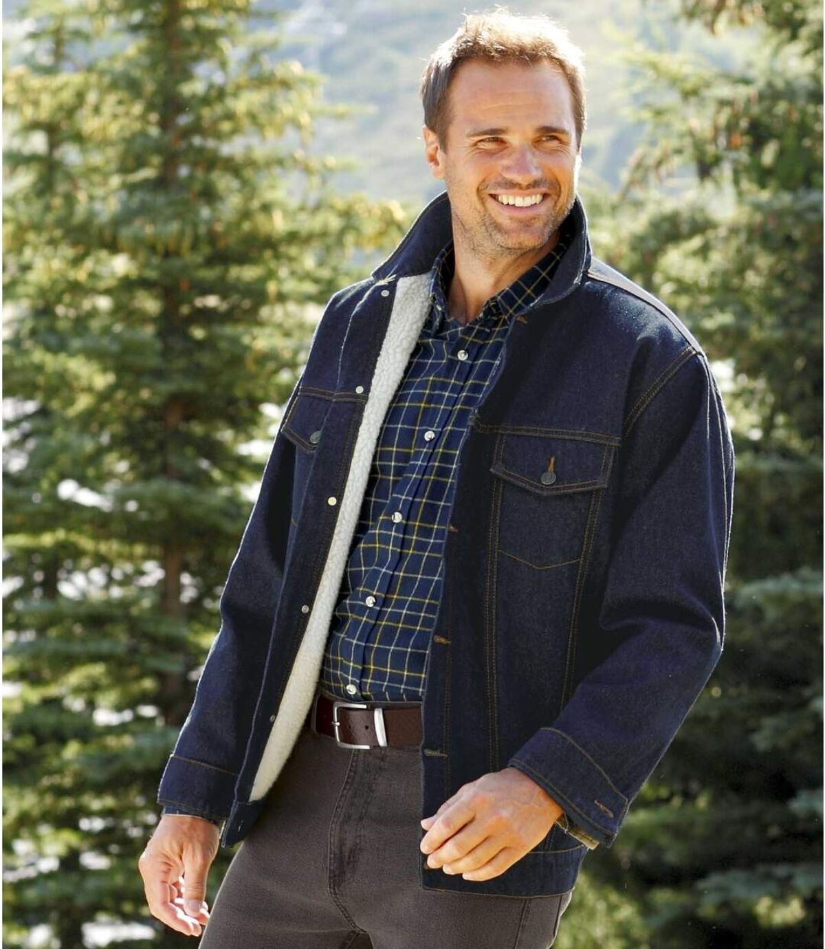 Le Blouson Jeans Doublé Sherpa Atlas For Men