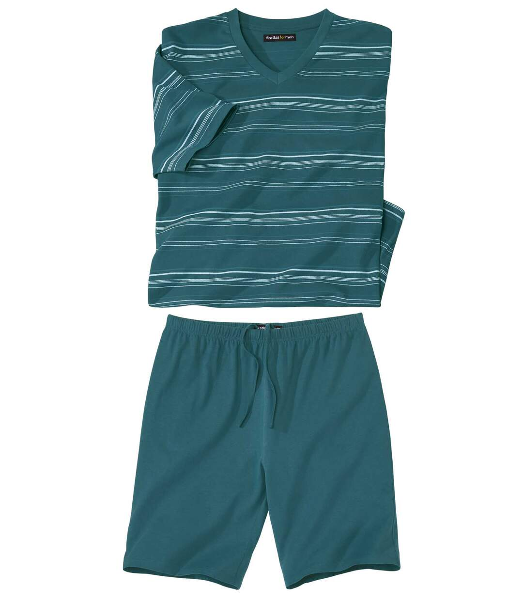 Men's Blue Striped Pyjama Short Set Atlas For Men