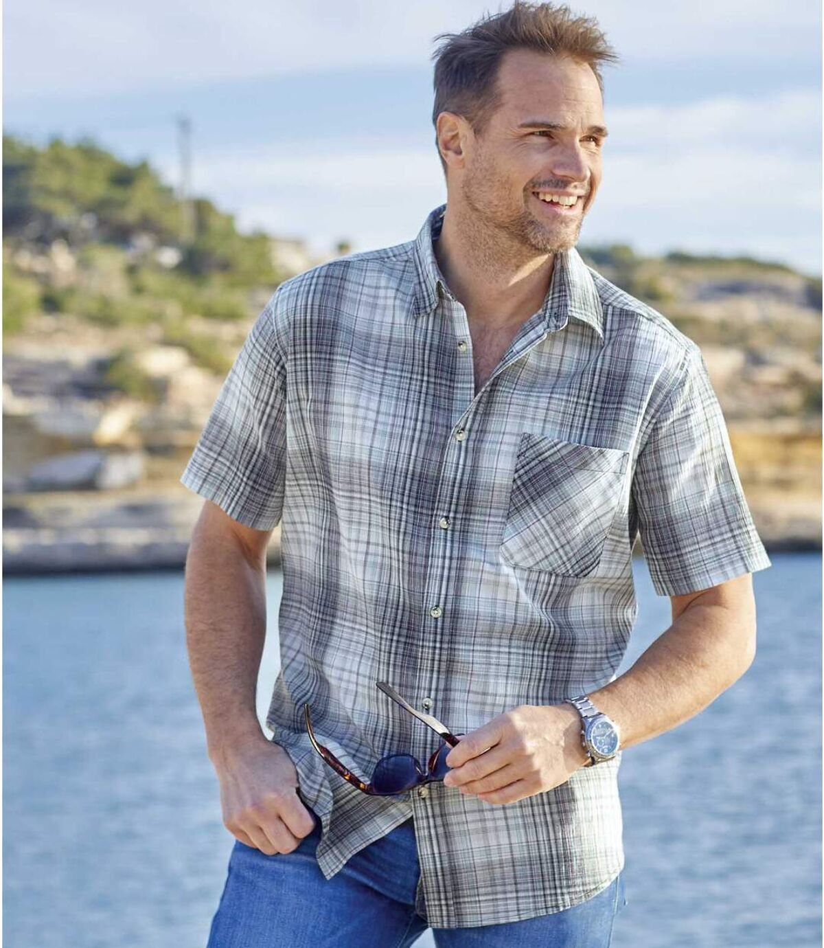 Krepová košile Středomoří Atlas For Men